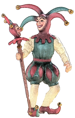 Goffard Bliss - a clever 16th century court jester who speaks only in rhymes